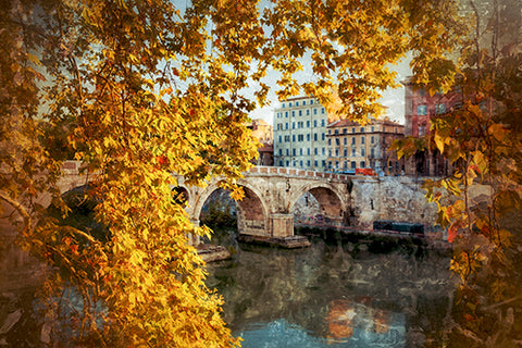 The Ponte Sisto Bridge, Trastevere Photography Mel Curtis Color- Portfolio2 Gallery