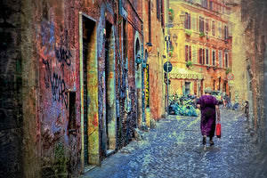 Old Woman in Trastevere Photography Mel Curtis Color- Portfolio2 Gallery