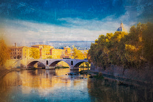 View of the Tiber River, Rome Photography Mel Curtis Color- Portfolio2 Gallery