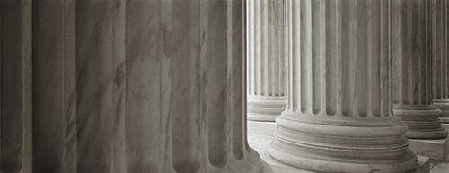 Supreme Court Columns #3 Photography Mel Curtis BW- Portfolio2 Gallery