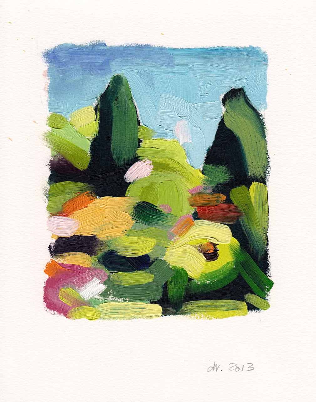 Landscape (Arboretum #5) Paintings David Coleridge Ryan- Portfolio2 Gallery