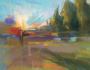 Morning Sunburst Paintings Laura Pollak- Portfolio2 Gallery