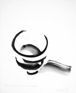 Tea Bowl with Brushed Ink Shadow Paintings David Coleridge Ryan- Portfolio2 Gallery
