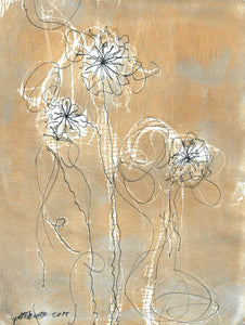 Golden Blooms Mixed-Media Pat Hansen- Portfolio2 Gallery