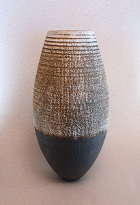 Large Black/White Striated Tulip Ceramics Brian O'Neill- Portfolio2 Gallery