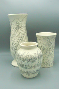 Scribbles on Ivory I, II & III (set of 3) Crafts Pat Hansen- Portfolio2 Gallery