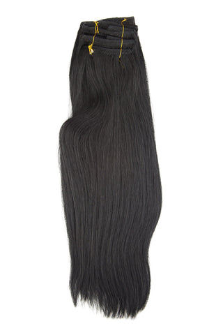 #1 (BLACK LICORICE) 7 PIECE CLIP-IN