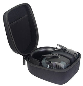 caseling Hard Case Fits Howard Leight by Honeywell Impact Pro Sound Amplification Electronic Shooting Earmuff (R-01902) - Includes Mesh Pocket for Accessories. - caseling.com