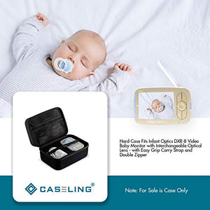 Caseling Hard Case Fits Infant Optics DXR-8 Video Baby Monitor with Interchangeable Optical Lens - with Easy Grip Carry Strap and Double Zipper to Protect Your Device by caseling-com.myshopify.com