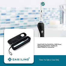 Hard CASE Fits Oral-B Pro 1000 Power Rechargeable Electric Toothbrush. Mesh Pocket for accessories. By Caseling. - caseling.com