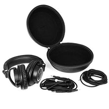 Hard Headphone CASE Fits: Sony MDR7506 / MDR-V6. & Audio-Technica ATH M50x/M70x/M40x/M30x. & Sennheiser HD280PRO. And many other headphones. Black. - caseling.com