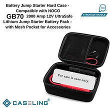 caseling Hard Case - Compatible with GB70 2000 Amp 12V UltraSafe Lithium Jump Starter Battery Pack - with Mesh Pocket for Accessories by caseling-com.myshopify.com