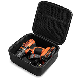 CASE Fits BLACK+DECKER LDX120C 20-Volt MAX Lithium-Ion Cordless Drill/Driver. By Caseling - caseling.com