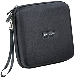 Caseling Portable Hard Carrying Travel Storage Case for External USB, DVD, CD, Blu-ray Rewriter / Writer and Optical Drives - Black - caseling.com