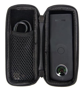 Hard CASE fits Ricoh Theta V 360 / Theta S/SC 360 Digital Camera. with mesh Pocket. by Caseling - caseling.com