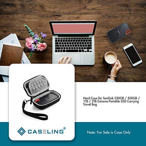 Caseling Hard Case for SanDisk 250GB / 500GB / 1TB / 2TB Extreme Portable SSD Carrying Travel Bag by caseling-com.myshopify.com
