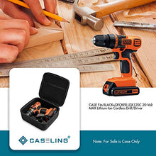 Caseling Hard Case Compatible with BLACK+DECKER LDX120C 20-Volt MAX Lithium-Ion Cordless Drill/Driver. By Caseling by caseling-com.myshopify.com