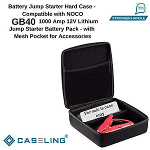 Caseling Hard Case - Compatible with GB40 1000 Amp 12V Lithium Jump Starter Battery Pack - with Mesh Pocket for Accessories by caseling-com.myshopify.com