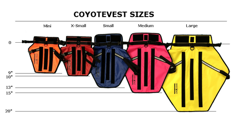 Coyote Vest Size Chart