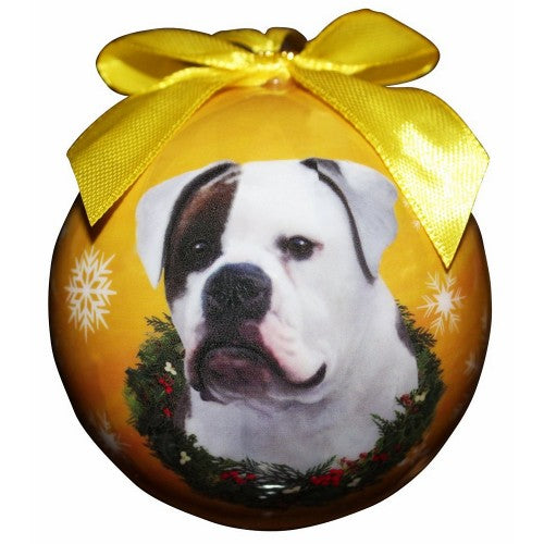 Christmas Ornament - American Bulldog