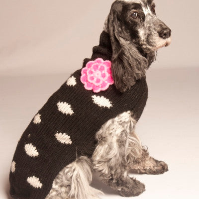 "Apparel - Sweater - Wool - ""Black Polka Dot"""