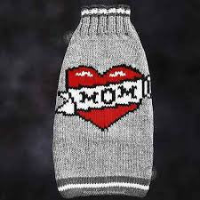 "Apparel - Sweater - Wool - ""Heart MOM"""