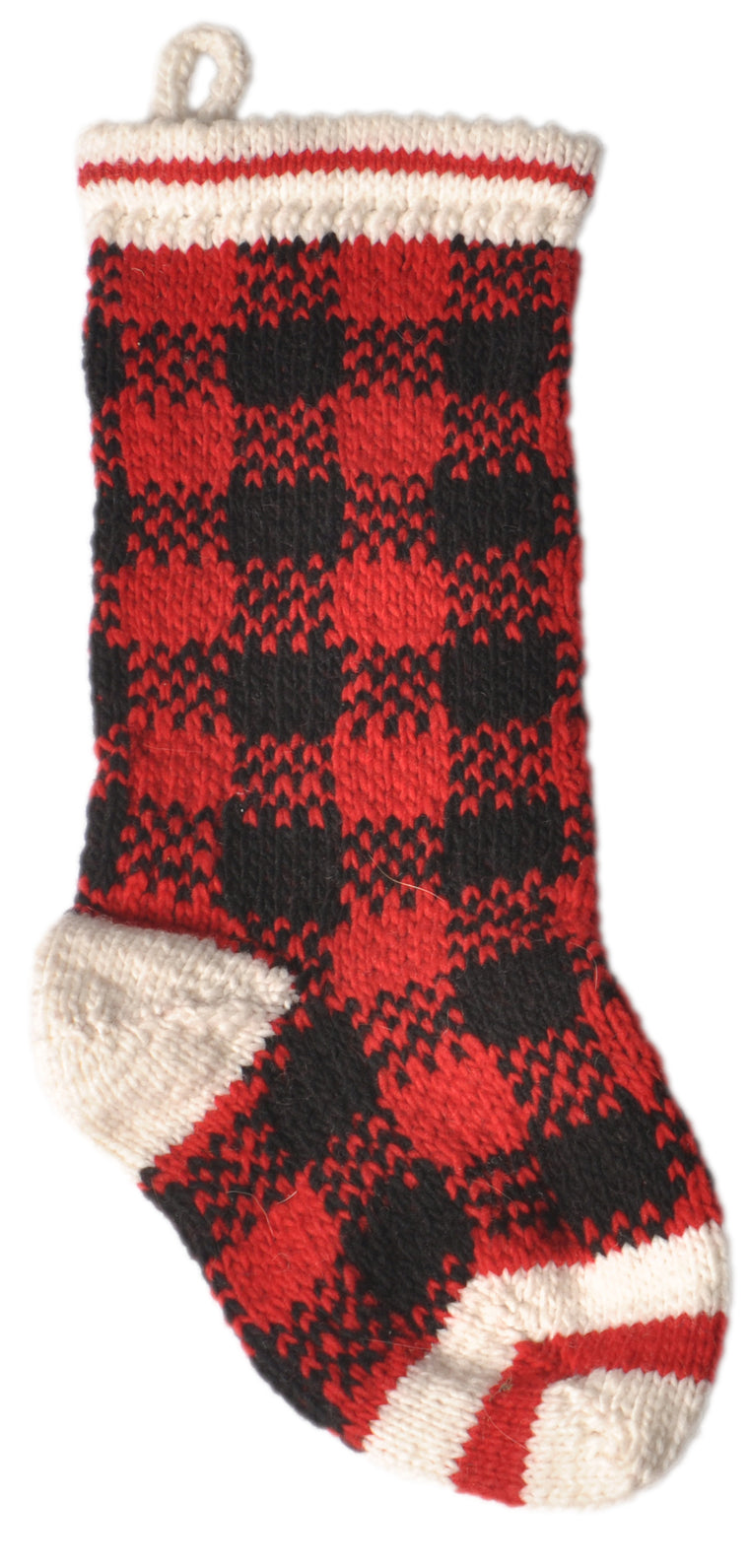 "Apparel - Sweater - Wool - ""Buffalo Plaid"" - Matching Xmas Doggy Stocking"