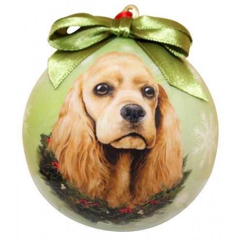 Christmas Ornament - Cocker Spaniel, Buff