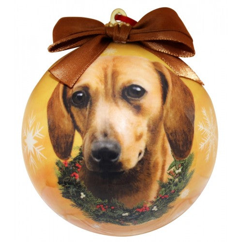 Christmas Ornament - Dachshund, Red