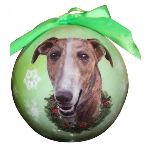 Christmas Ornament - Greyhound, Brindle