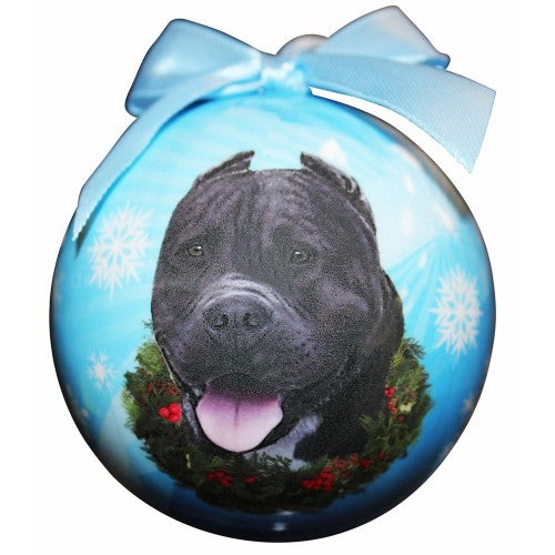 Christmas Ornament - Pit Bull, Black