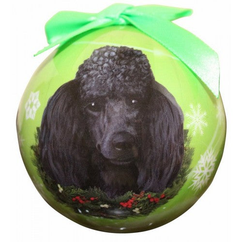 Christmas Ornament - Poodle, Black