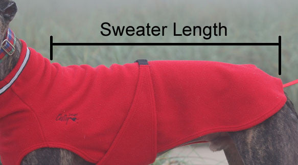 Dog Sweater for Long & Lean Dogs - Red