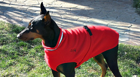 Fleece Dog Sweater - Red
