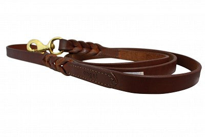 Leather Braided Leash with Double Handle