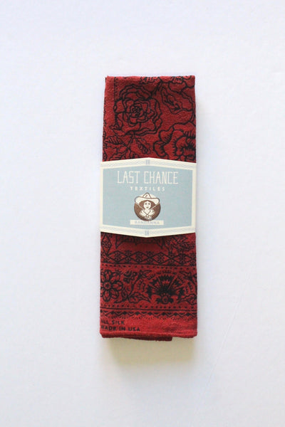Madder Red Silk Bandana