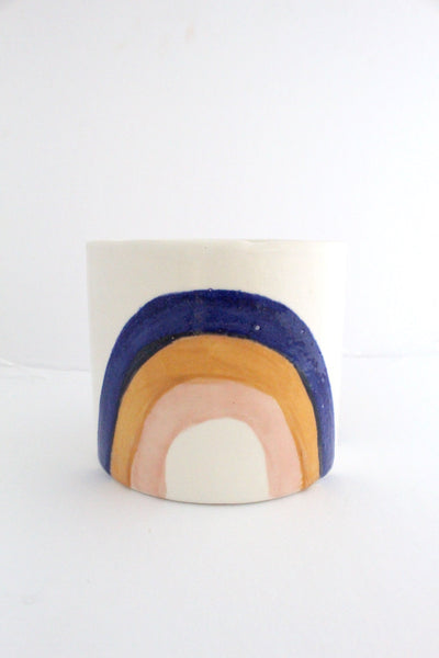 Round Blue Rainbow pot