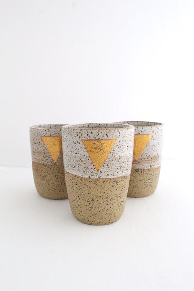 Gold Triangle Cups