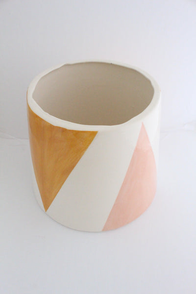 Colored Triangle Pot- Large