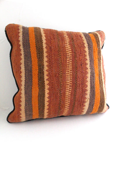 Burnt Orange Wool Pillow || VINTAGE