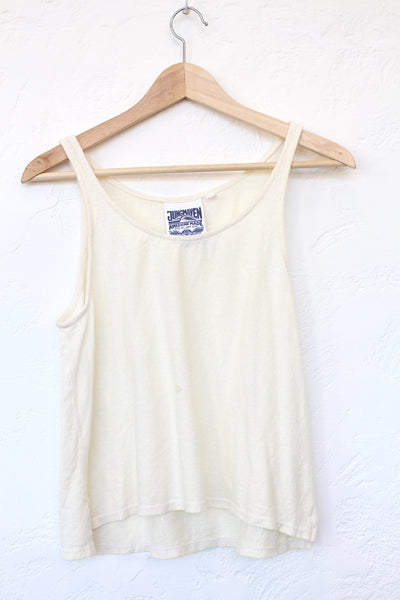 Cropped Tank - Washed White