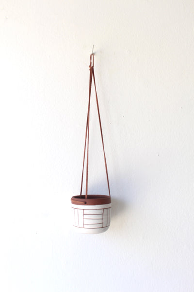 Thick Line Hanging Planter - Small