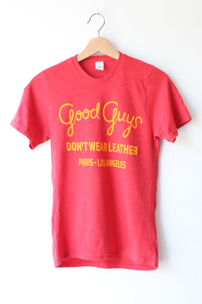 Good Guys Don't Wear Leather Tee Shirt - Red