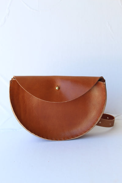 Extended Half Moon Crossbody/ Waistbag - Cognac