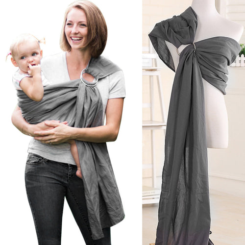 Tommaso Soft Baby Ring Sling Wrap-Gray