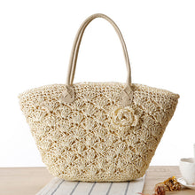 Hannah Summer Straw Beach Bag-Beige