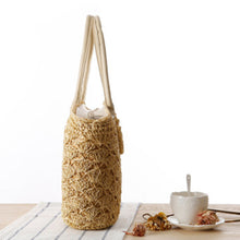 Hannah Summer Straw Beach Bag-Khaki