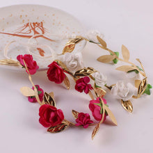 2pcs/lot Baby Elastic Headbands Artificial Flower Girls Hair Wreath Ornaments Seaside Kids Accessories Boho Circle of Flowers