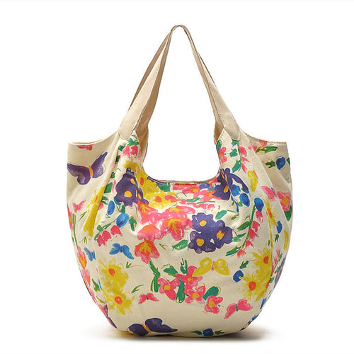 Floral Canvas Large Tote