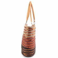 Briella Sequin Straw Beach Bag-Khaki